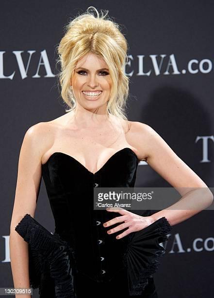 Adriana Abenia attends the Telva Awards 2011 at Palacio de Montalban on October 24 2011 in Madrid Spain