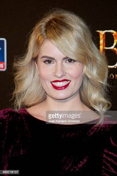 Adriana Abenia attends the 'The Hobbit The Desolation of Smaug' premiere at the Kinepolis cinema on December 11 2013 in Madrid Spain