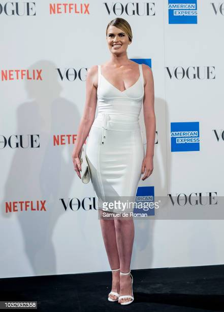 Adriana Abenia attends the 'Vogue fashion's Night Out' photocall at Ortega y Gasset street on September 13 2018 in Madrid Spain