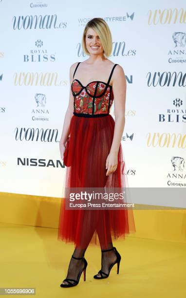 Adriana Abenia attends the Woman Magazine Awards photocall at Madrid's Casino on October 30 2018 in Madrid Spain
