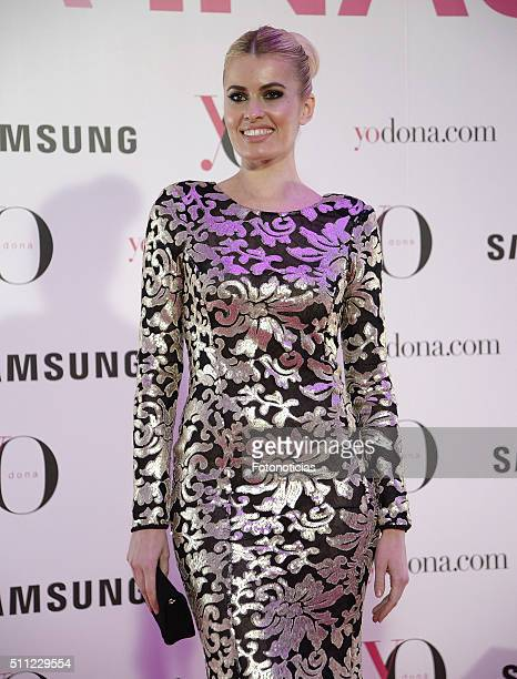 Adriana Abenia attends the 'Yo Dona' Party MercedesBenz Madrid Fashion Week Autumn/Winter 2016/2017 at the NH Eurobuilding Hotel on February 18 2016...