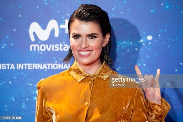 Adriana Abenia attends to 'Superlopez' premiere at Capitol Cinemas in Madrid Spain November 21 2018