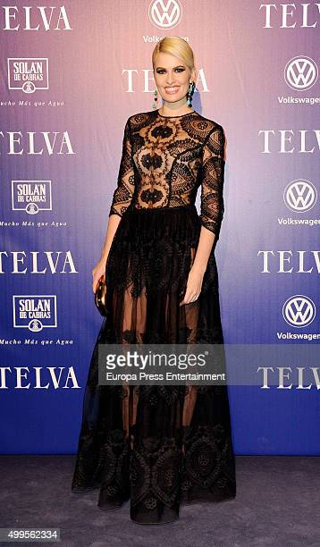 Adriana Abenia attends XXV Telva Fashion Awards 2015 at the Royal Theatre on December 1 2015 in Madrid Spain