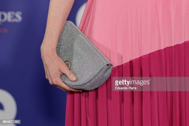 Adriana Abenia handbag detail attends the 'GQ Inconquistables' awards photocall at COAM on May 31 2018 in Madrid Spain