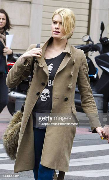 Adriana Abenia is seen on April 20 2012 in Madrid Spain