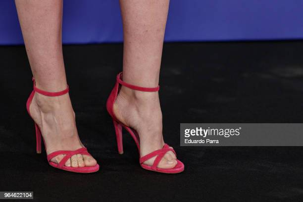 Adriana Abenia shoes detail attends the 'GQ Inconquistables' awards photocall at COAM on May 31 2018 in Madrid Spain