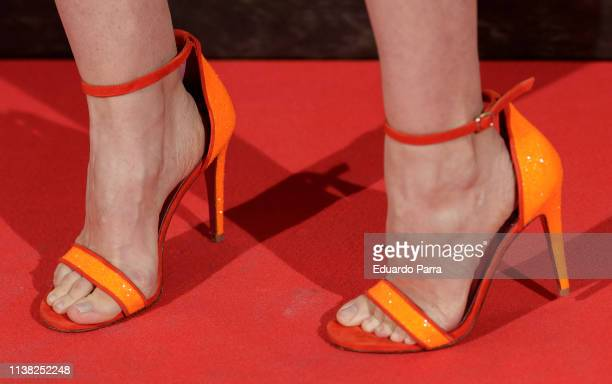 Adriana Abenia shoes detail attends the 'Highwaymen' at Capitol cinema on March 25 2019 in Madrid Spain