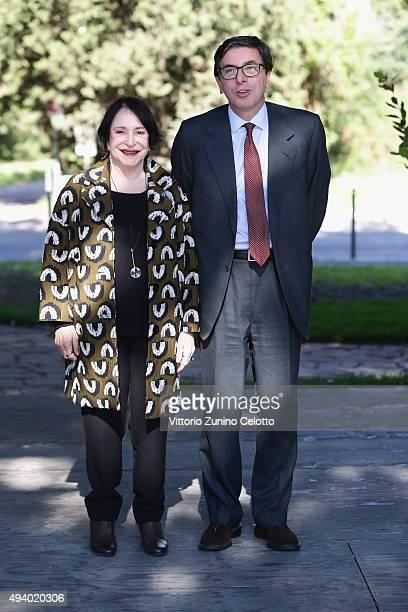 Adriana Asti and Antonio Monda attends the 'StarLight Cinema Award' during the 10th Rome Film Fest on October 24 2015 in Rome Italy