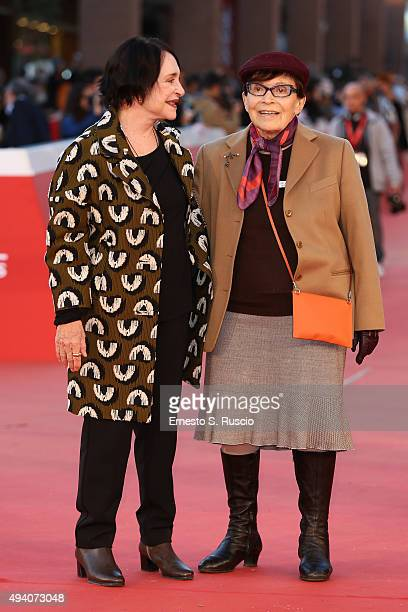 Adriana Asti and Franca Valeri attend a red carpet for 'StarLight Cinema Award' during the 10th Rome Film Fest on October 24 2015 in Rome Italy