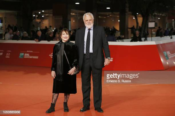 Adriana Asti and Marco Tullio Giordana walk the red carpet ahead of the 'Before The Frost' And 'Donna Fabia' screening during the 13th Rome Film Fest...