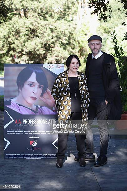 Adriana Asti and Rocco Talucci attend the 'StarLight Cinema Award' during the 10th Rome Film Fest on October 24 2015 in Rome Italy