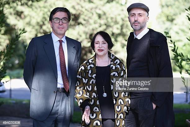 Adriana Asti Antonio Monda and Rocco Talucci attend the 'StarLight Cinema Award' during the 10th Rome Film Fest on October 24 2015 in Rome Italy