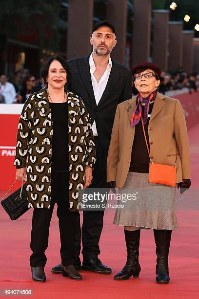 Adriana Asti Rocco Talucci and Franca Valeri attend a red carpet for 'StarLight Cinema Award' during the 10th Rome Film Fest on October 24 2015 in...