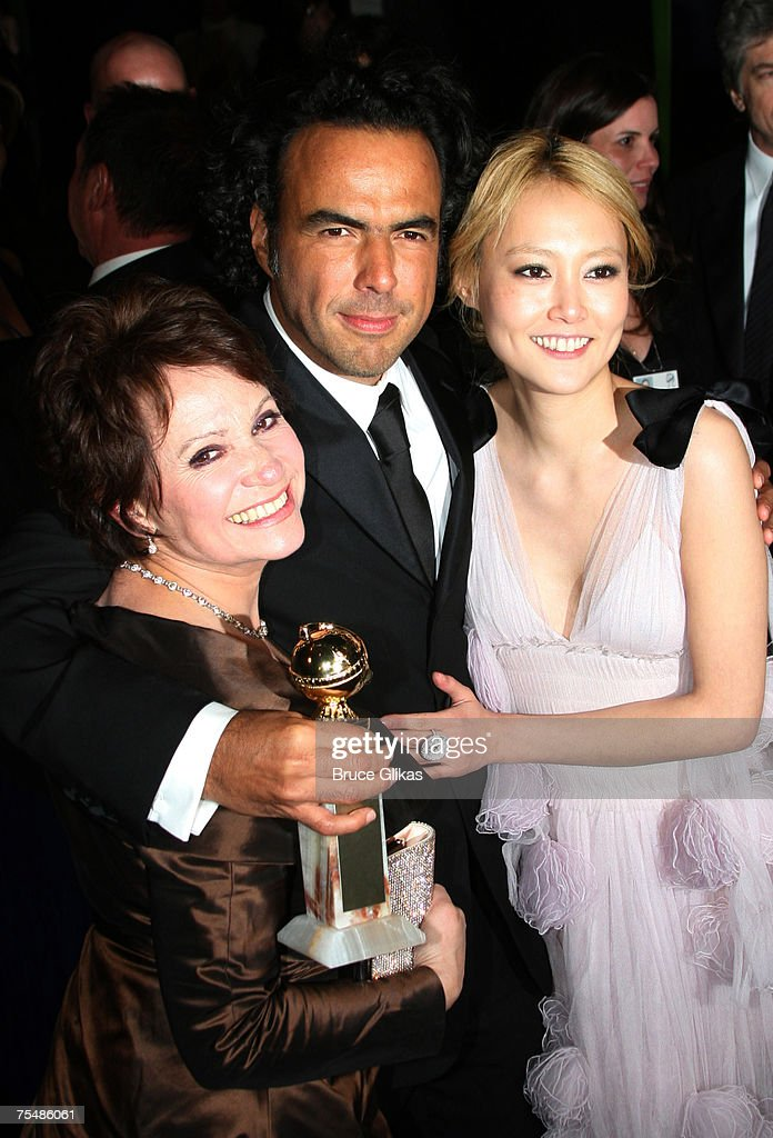 Adriana Barraza, Alejandro Gonzalez Inarritu and Rinko Kikuchi at the Paramount Pictures Hosts 2007 Golden Globe Award After-Party at Beverly Hilton Hotel in Beverly Hills, California.