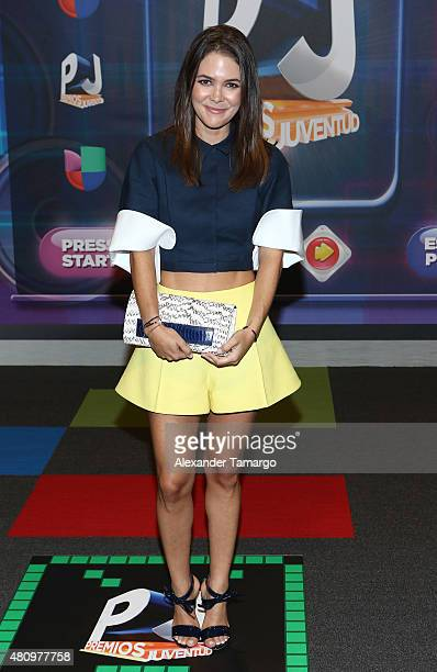 Adriana Castro is seen arriving at Univision's Premios Juventud 2015 at the Bank United Center on July 16 2015 in Miami Florida