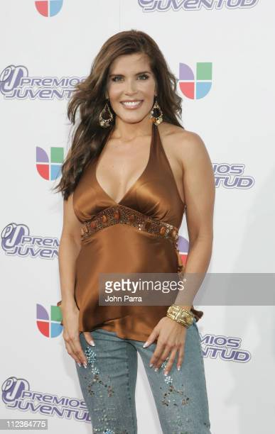 Adriana Catano during 2005 Premios de la Juventud - Arrivals at University of Miami in Coral Gables, Florida, United States.