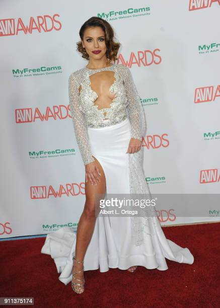 Adriana Chechik attends the 2018 Adult Video News Awards held at Hard Rock Hotel Casino on January 27 2018 in Las Vegas Nevada