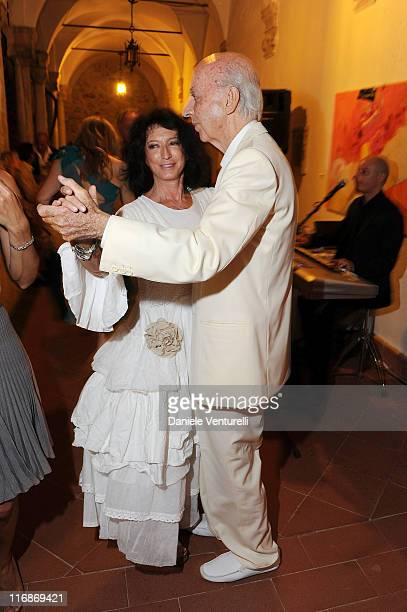 Adriana Chiesa di Palma and Lillo Sforza Ruspoli attends the 'Fondazione Roma Mediterraneo Dinner' during the 57th Taormina Film Fest 2011 on June 18...