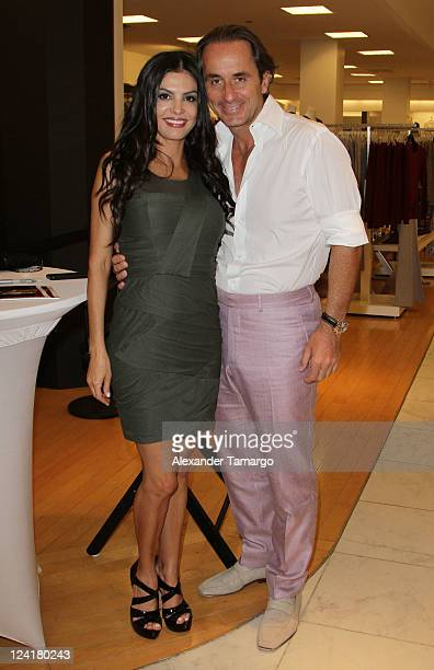 Adriana De Moura and Frederic Marq attend Fashion's Night Out celebration at Macy's Aventura on September 8 2011 in North Miami Florida