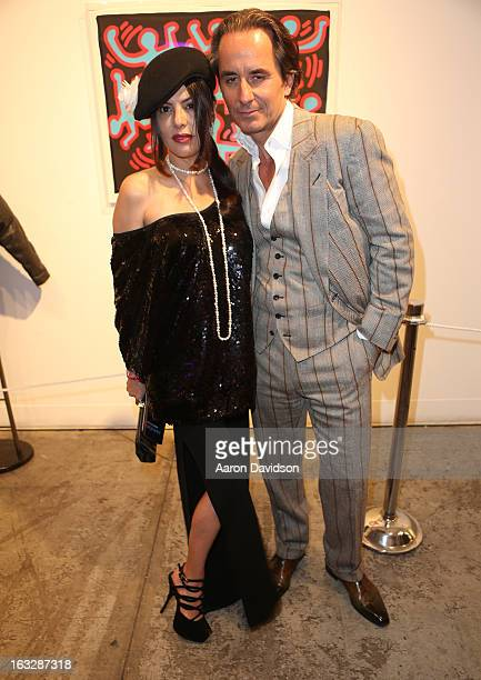 Adriana De Moura and Frederic Marq attend Haring Miami VIP Reception to benefit Best Buddies and Care Resource at Moore Building on March 6 2013 in...