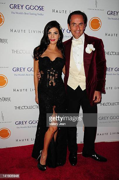 Adriana De Moura and Frederic Marq attend Lea Roy Black Present The Blacks' Annual Gala 2012 at Fontainebleau Miami Beach on March 24 2012 in Miami...