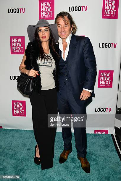 Adriana De Moura and Frederic Marq attend Logo TV's 2014 NewNowNext Awards at the Kimpton Surfcomber Hotel on December 2 2014 in Miami Beach Florida
