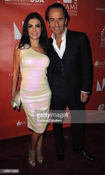Adriana De Moura and Frederic Marq attend Miami International Film Festival Opening Night Gala Presenting Tom Gustafson's Mariachi Gringo at Gusman...