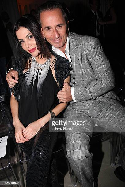 Adriana De Moura and Frederic Marq attend Rico Love's 30th Birthday Celebration on December 8 2012 in Miami Florida