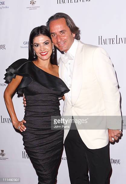 Adriana De Moura and Frederic Marq attend The Blacks Annual Gala at Eden Roc a Renaissance Beach Resort and Spa on April 2 2011 in Miami Beach Florida