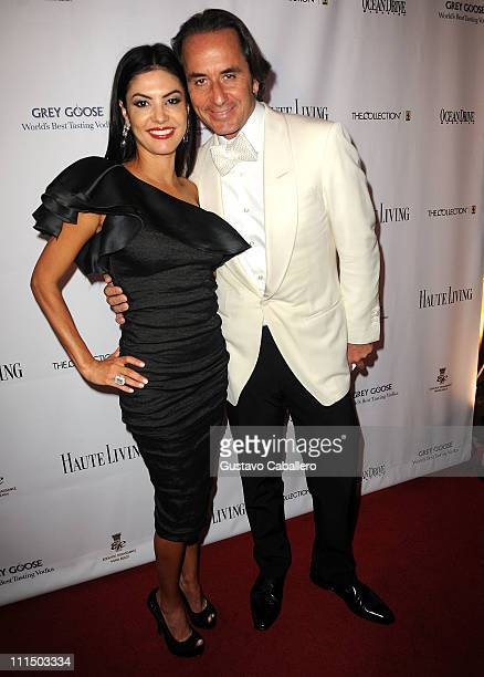 Adriana De Moura and Frederic Marq attend the gala to benefit atrisk youth at Eden Roc Renaissance on April 2 2011 in Miami Beach Florida