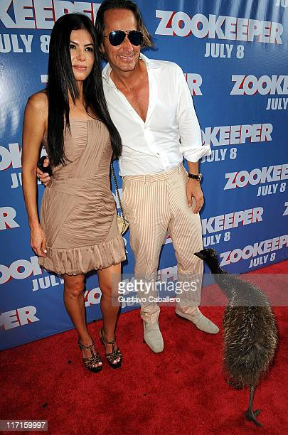 Adriana de Moura and Frederic Marq attend the Miami premiere of Columbia Pictures Zookeeper at Regal South Beach Cinema on June 23 2011 in Miami...