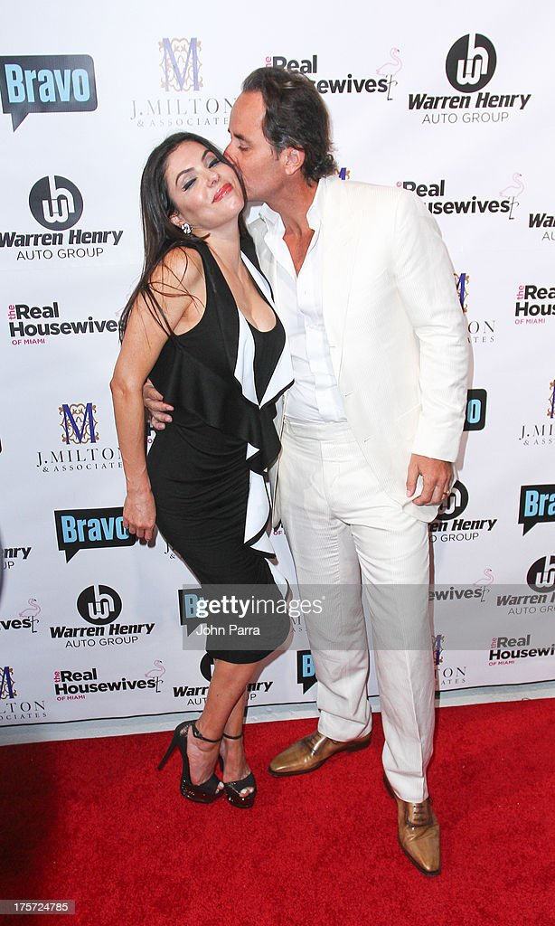 Adriana de Moura and Frederic Marq attend The Real Housewives of Miami Season 3 Premiere Party on August 6, 2013 in Miami, Florida.