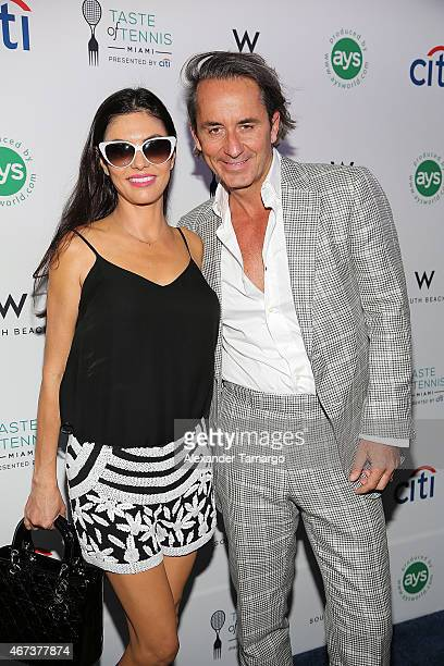 Adriana de Moura and Frederic Marq attends Taste Of Tennis Miami Presented By Citi at W South Beach on March 23 2015 in Miami Beach Florida