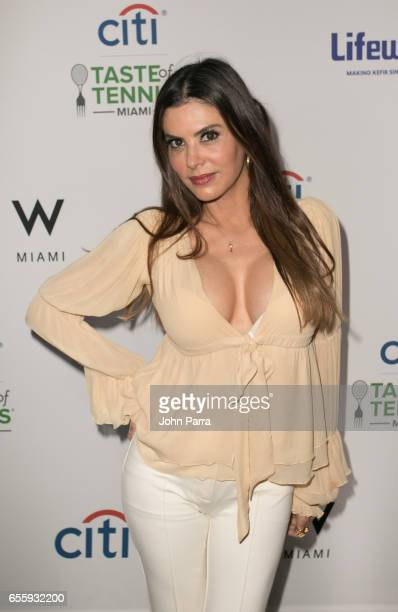 Adriana De Moura arrives at the Citi Taste Of Tennis Miami at W Hotel on March 20 2017 in Miami Florida