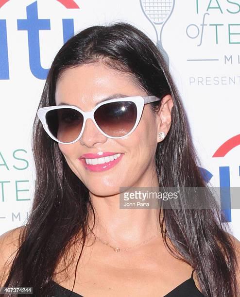 Adriana de Moura attends Taste Of Tennis Miami Presented By Citi at W South Beach on March 23 2015 in Miami Beach Florida
