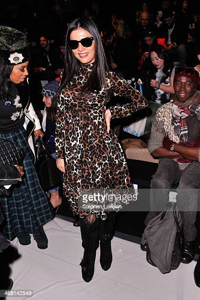 Adriana De Moura attends the Custo Barcelona fashion show during MercedesBenz Fashion Week Fall 2014 at The Salon at Lincoln Center on February 9...