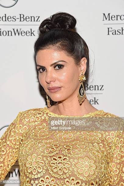 Adriana de Moura attends the MercedesBenz Lounge during MercedesBenz Fashion Week Spring 2015 at Lincoln Center on September 9 2014 in New York City