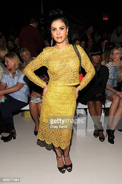 Adriana de Moura attends the Zang Toi fashion show during MercedesBenz Fashion Week Spring 2015 at The Salon at Lincoln Center on September 9 2014 in...