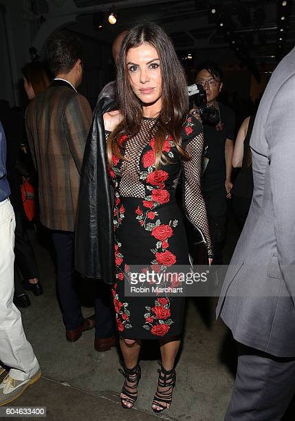 Adriana De Moura attends Zang Toi Front Row September 2016 during New York Fashion Week at Pier 59 Studios on September 13 2016 in New York City
