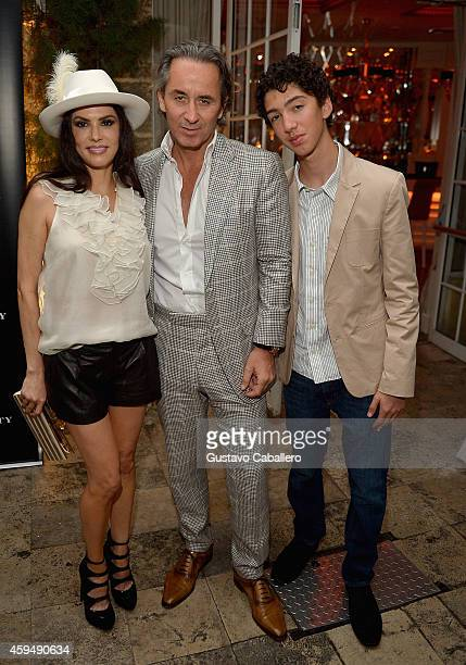 Adriana De Moura Frederic Marq and son attends Gilt City Celebrates The Launch Of Andy Cohen's New Book The Andy Cohen Diaries on November 23 2014 in...