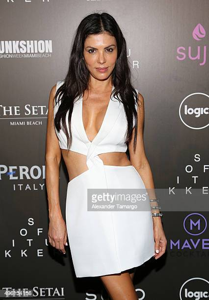 Adriana de Moura is seen at the Celebration of Hope event during FUNKSHION Fashion Week Miami Beach at The Setai Hotel on November 6 2015 in Miami...