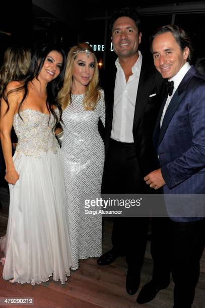 Adriana de Moura Marysol Patton Louis Aguirre and Frederic Marq attend 1826 Restaurant Lounge Grand Opening on March 15 2014 in Miami Beach Florida