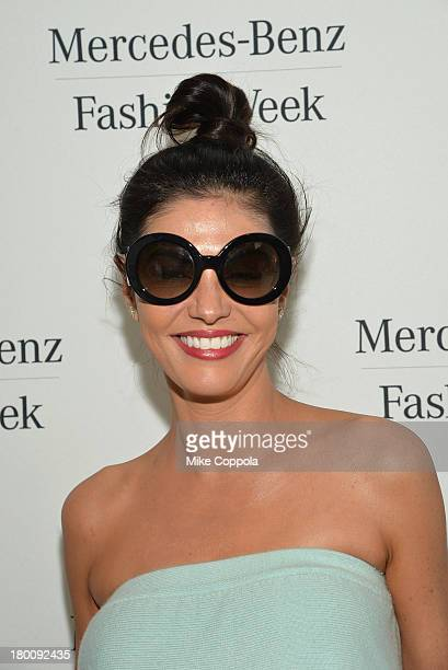 Adriana De Moura of 'Real Housewives of Miami' attends the MercedesBenz Star Lounge during MercedesBenz Fashion Week Spring 2014 on September 8 2013...