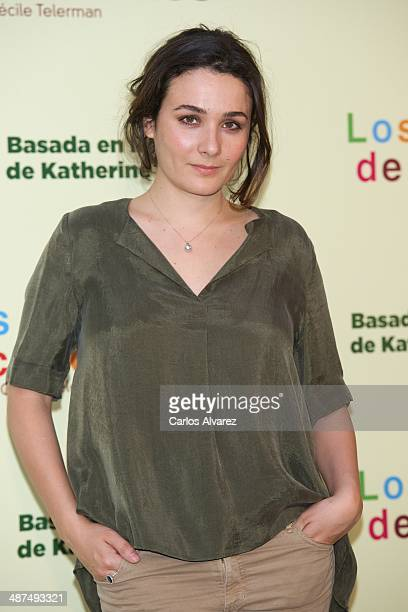 Adriana Dominguez attends the Los Ojos Amarillos de los cocdrilos premiere at the Academia de Cine on April 30 2014 in Madrid Spain