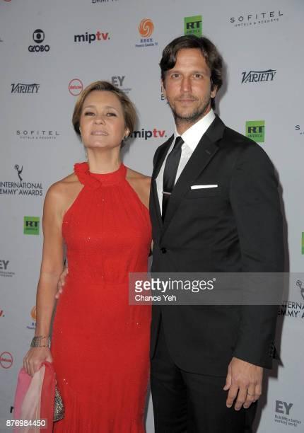 Adriana Esteves and Vladimir Brichta attends 45th International Emmy Awards at New York Hilton on November 20 2017 in New York City