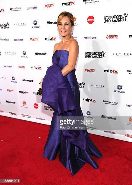 Adriana Esteves attends the 39th International Emmy Awards at the Mercury Ballroom at the New York Hilton on November 21 2011 in New York City