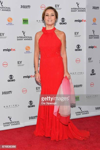 Adriana Esteves for best performance by an actress in Justica attends the 45th International Emmy Awards at New York Hilton on November 20 2017 in...