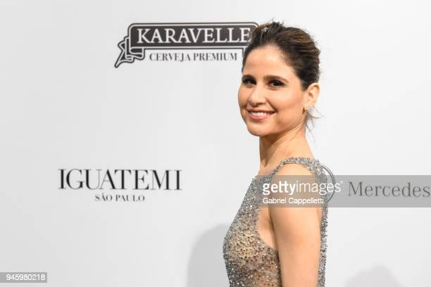 Adriana Ferreyr attends the 2018 amfAR gala Sao Paulo at the home of Dinho Diniz on April 13 2018 in Sao Paulo Brazil