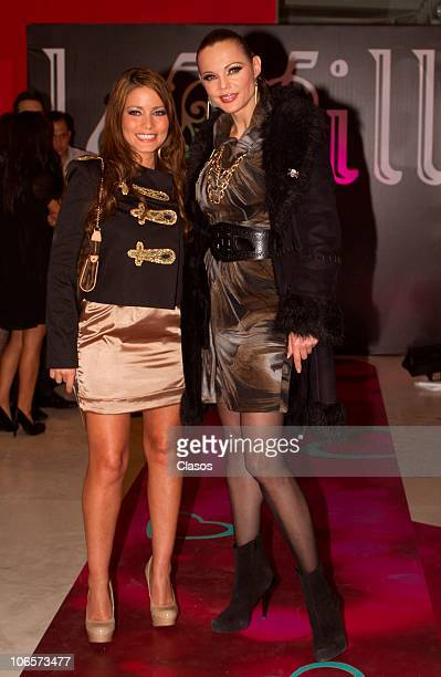 Adriana Fonseca and Carmen Campuzano during a fashion show at The Gallery on November 3 2010 in mexico City Mexico 9photo by Guillermo...