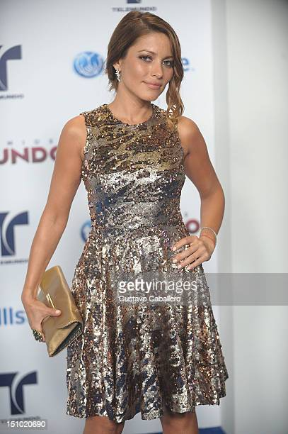Adriana Fonseca arrives at Telemundo's Premios Tu Mundo Awards at Fillmore Miami Beach on August 30 2012 in Miami Beach Florida